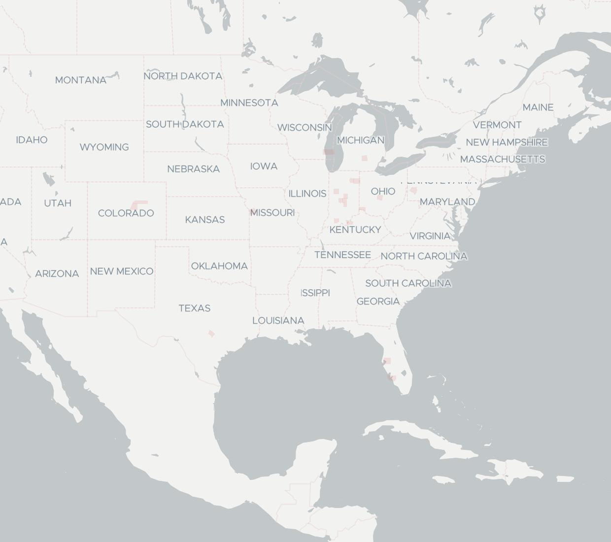 Xiber Availability Map. Click for interactive map.