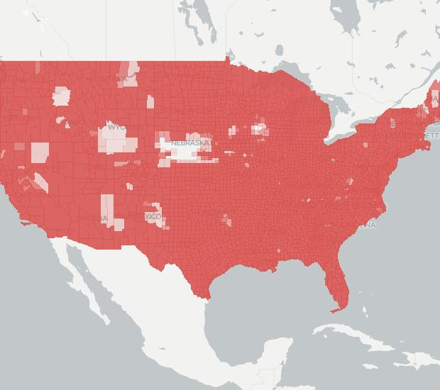 AT&T Wireless Availability Map. Click for interactive map.