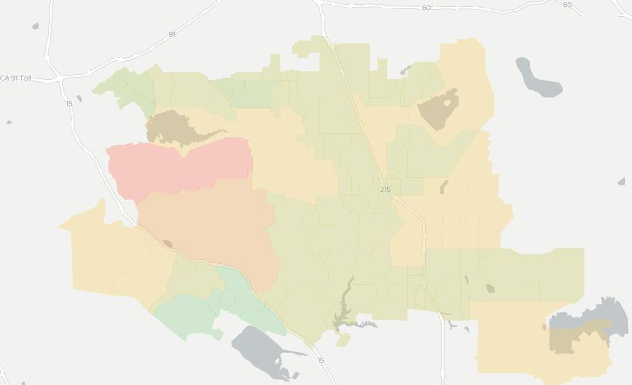 Perris Zip Code Map.Internet Providers In Perris Compare 16 Providers Broadbandnow Com
