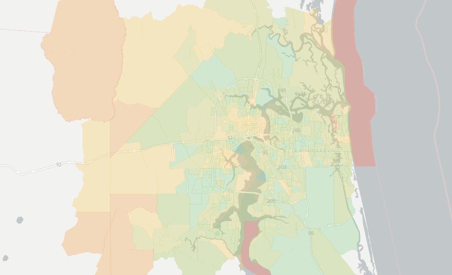 Jacksonville Florida Zip Code Map.Internet Providers In Jacksonville Compare 29 Internet Providers
