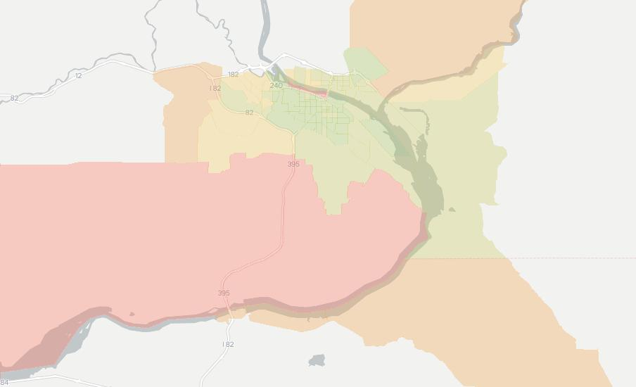 Kennewick Zip Code Map.Kennewick Wa Has 20 Internet Service Providers From 30 00